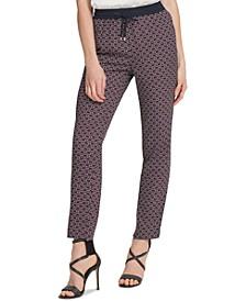 Printed Pull-On Pants