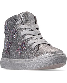 Steve Madden Little Girls JAUSTINN High Top Fashion Casual Sneakers from Finish Line
