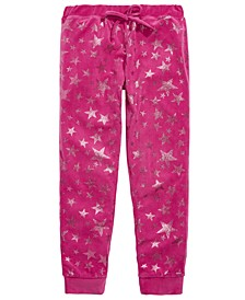 Little & Big Girls Star-Print Velour Pajama Pants
