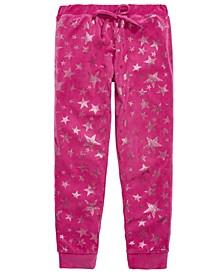 Little & Big Girls Star-Print Velour Pajama Pants