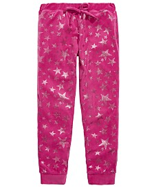 Max & Olivia Little & Big Girls Star-Print Velour Pajama Pants