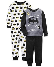 Toddler Boys 4-Pc. Cotton Batman Pajamas Set