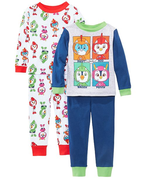 AME Toddler Boys 4-Pc. Cotton Top Wing Pajamas Set