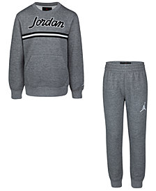Jordan Little Boys 2-Pc. Sweatshirt & Jogger Pants Set