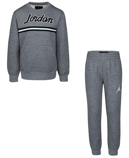 Jordan Little Boys 2-Pc. Sweatshirt & Jogger Pants Set