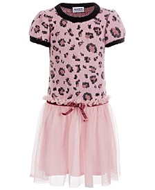 Little Girls Leopard-Print Dress