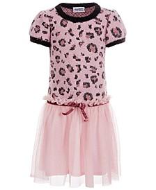 Little Girls Leopard-Print Dress