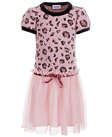 Blueberi Boulevard Little Girls Leopard-Print Dress