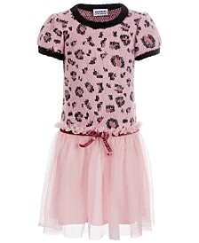 Blueberi Boulevard Little Girls Leopard-Print Dress