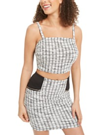 Material Girl Juniors' Plaid Crop Top, Created for Macy's