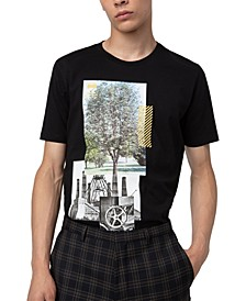 HUGO Men's Tree Graphic T-Shirt