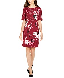 Floral-Print Sheath Dress, Created for Macy's
