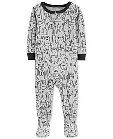 Baby Boys Cotton Footed Dog Pajamas