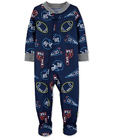 Carter's Toddler Boys 1-Pc. Sports-Print Footed Pajamas