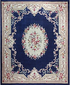 KM Home Palace Garden Aubusson Dark Blue Area Rug Collection