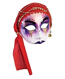 Women's Fortune Teller Half Mask with Scarf