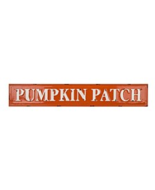 Enameled Metal Pumpkin Patch Wall Sign