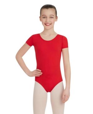 Capezio Kids' Little And Big Girls Short Sleeve Leotard In Red