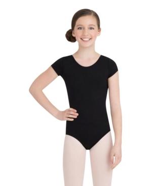 Capezio Kids' Little And Big Girls Short Sleeve Leotard In Black