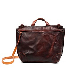 Brookside Leather Messenger Bag