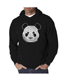 LA Pop Art Men's Word Art Hoodie - Panda Head