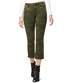 Sanctuary Connector Camo-Print Kick-Crop Jeans