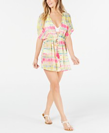 Miken Juniors' Tie-Dyed Kimono Cover-Up, Created for Macy's