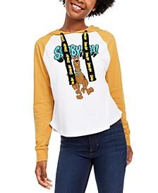 Juniors' Scooby-Doo Raglan-Sleeve Hoodie