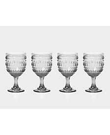 Euro Ceramica Fez Wine Glasses, Set of 4