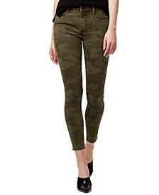 Social Standard Camo-Print Ankle Skinny Jeans