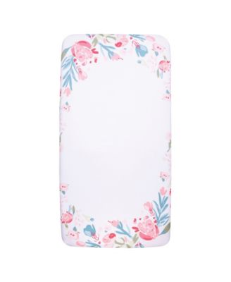 My Tiny Moments Painterly Floral Photo Op Crib Sheet