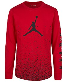 Jordan Big Boys Cotton Ombré Speckle T-Shirt