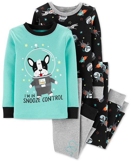 Carter's Baby Boys 4-Pc. Snug-Fit Cotton Space Dog Pajamas Set