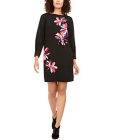 Trina Turk Calistoga Floral-Embroidered Dress