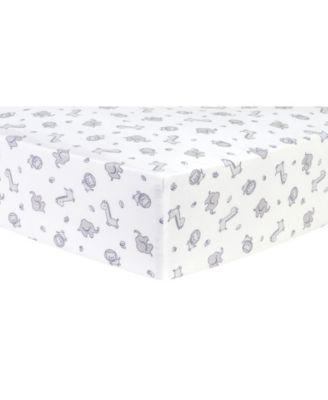 Chevron Safari Flannel Crib Sheet