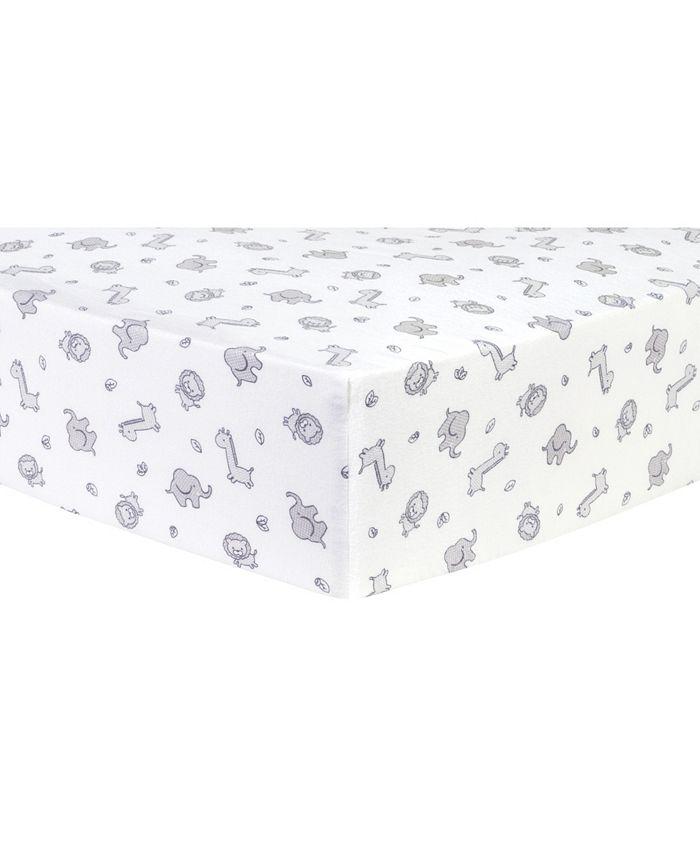 Trend Lab - Safari Chevron Deluxe Flannel Fitted Crib Sheet