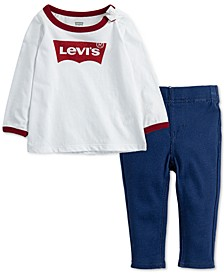 Baby Girls 2-Pc. Logo T-Shirt & Leggings Set