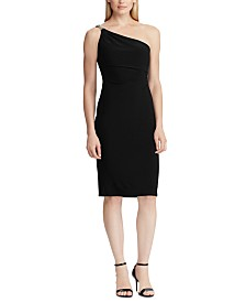 Lauren Ralph Lauren One-Shoulder Cocktail Dress, Created For Macy's
