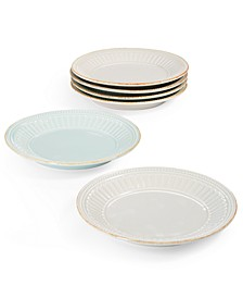French Perle Groove Dessert Plate