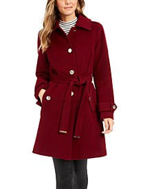 Petite Single-Breasted Belted Coat