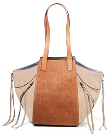Utility Leather Tote Bag