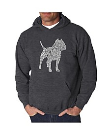 Men's Word Art Hooded Sweatshirt - Pit bull