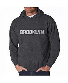 Men's Word Art Hoodie - Brooklyn Neighborhoods