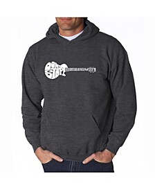 Men's Word Art Hooded Sweatshirt - Don't Stop Believin