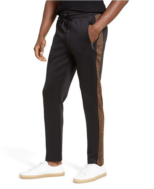Michael Kors Men's Leopard Trim Track Pants, Created for Macy's