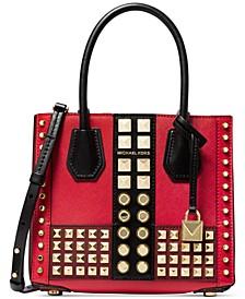 Mercer Accordion Leather Messenger Bag