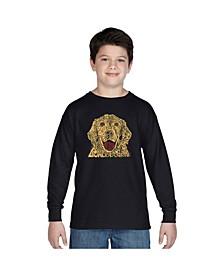Boy's Word Art Long Sleeve T-Shirt - Dog