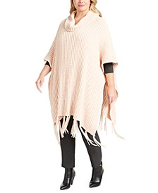 Chenille Plus Size Topper, Created for Macy's