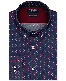 Men's Heritage Slim-Fit Performance Stretch Dobby Dress Shirt