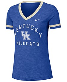 Women's Kentucky Wildcats Slub Fan V-Neck T-Shirt